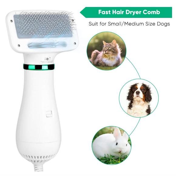 secaros y cepillo para mascotas pequeñas