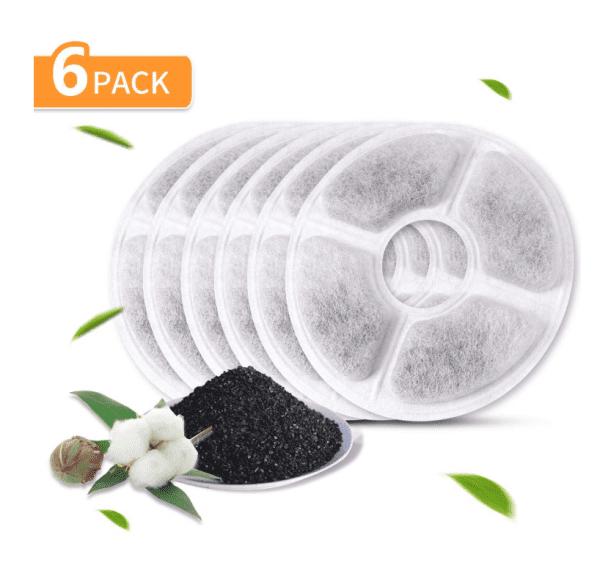 filtros de carbón activado 6 pack